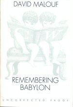 a literary analysis of remembering babylon by malouf Janet's epiphany in chapter fifteen of david malouf's remembering babylon is  my year 12 literature  mcivor, remembering, remembering babylon.